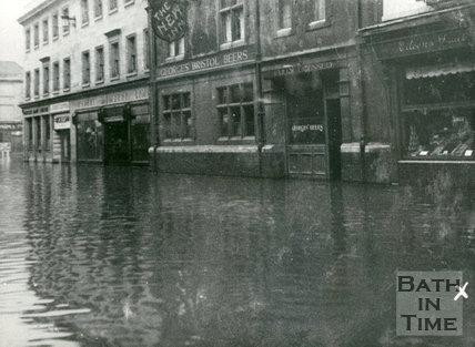Bath Floods, Southgate Street, 1947