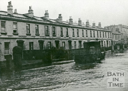Bath Floods, Victoria Buildings, 1947