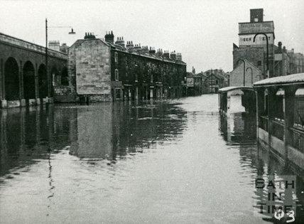 Bath Floods, Lower Bristol Road, 1947