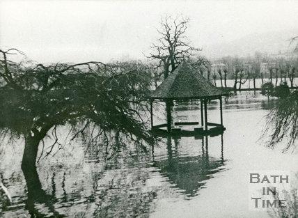 Bath Floods, Parade Gardens, 1947