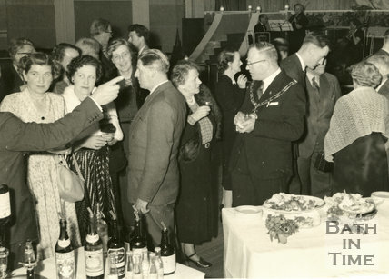An unidentified Event with the mayor in Bath, c.1950s