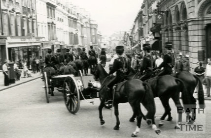 The Kings Troop of the Royal Horse Artillery in Bath, c.1980s
