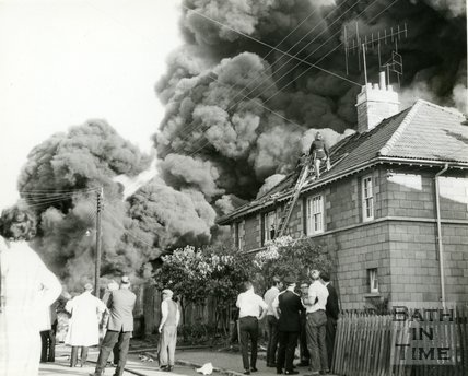 The great fire at Avon Rubber, Melksham, 1966