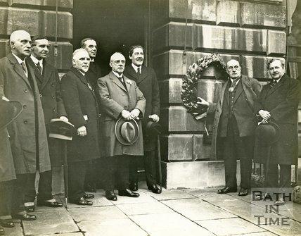 John Wood Bi-Centenary Celebration, 1927. Placing the Laurel Wreath on John Wood's House
