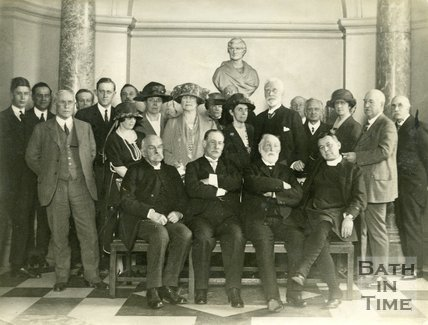 Conferring the freedom of the city on Mr. Federic Harrison 23 November 1921, at the Guildhall, Bath