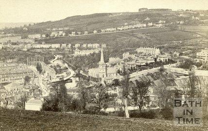 Widcombe Valley from Beechen Cliff, Bath c.1864