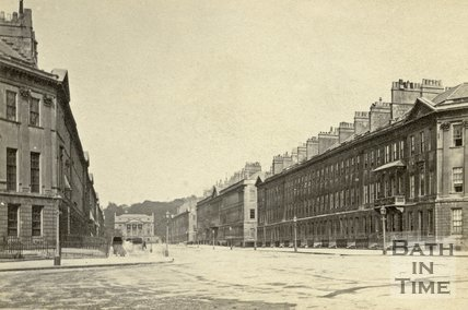 Great Pulteney Street towards the Holburne Museum, Bath c.1864