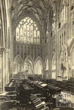 Interior of Wells Cathedral c.1868