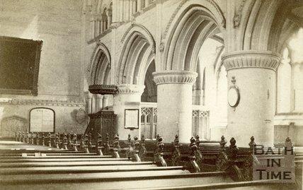 Interior, Malmesbury Abbey, Wiltshire c.1864