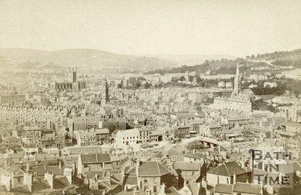 Bath from Beechen Cliff c.1869
