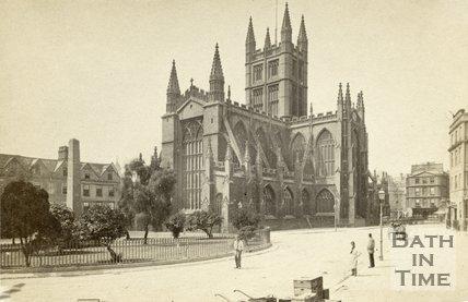 Bath Abbey from Orange Grove, Bath c.1864