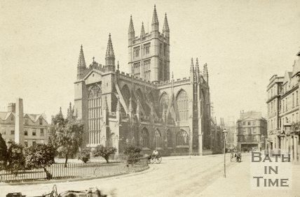 Bath Abbey from Orange Grove, Bath c.1865