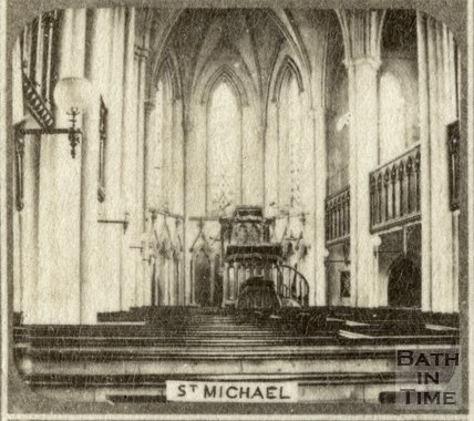 Interior of St. Michael's Church, Bath c.1863