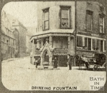 The drinking fountain, Fountain Buildings, Bath c.1863