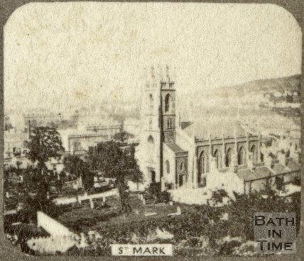 St. Mark's Church and burial ground, Widcombe, Bath c.1863
