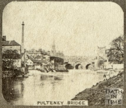 Pulteney Bridge and weir, Bath c.1863