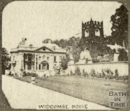 Widcombe Manor and church, Bath c.1863