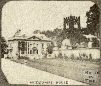 Widcombe Manor and church, Bath c.1863