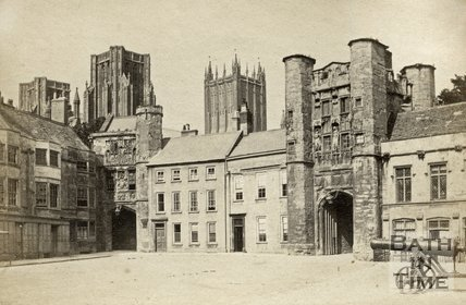 Gatehouses, Market Place, Wells c.1868