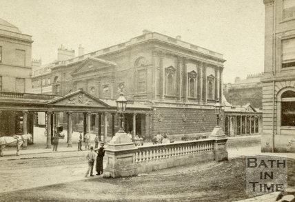 The Pump Room from the Grand Pump Room Hotel, Bath c.1868
