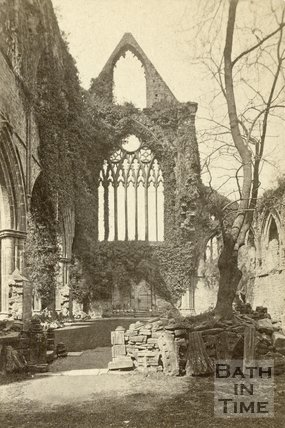 The ruined Tintern Abbey, Monmouthshire c.1868