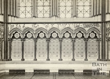 Interior of Salisbury Cathedral, Wiltshire c.1868