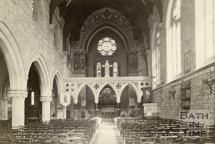 Interior of St. John's Roman Catholic Church, Bathwick, Bath c.1868