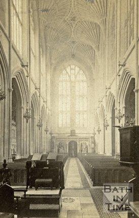 The nave, Bath Abbey, Bath c.1868
