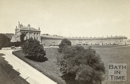 Royal Crescent from Marlborough Buildings, Bath c.1868