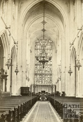 Interior, Bath Abbey, Bath c.1868