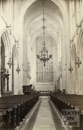 Interior of Bath Abbey, Bath c.1864