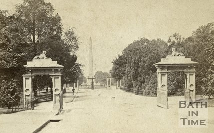 The entrance to Royal Victoria Park, Bath c.1868