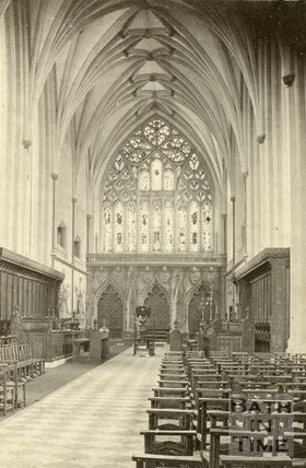 Interior of Bristol Cathedral c.1864