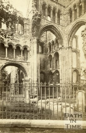 The ruined Kelso Abbey, Roxburghshire c.1868