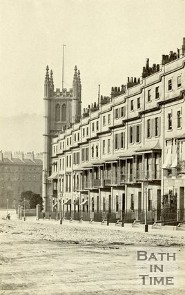 Raby Place at the bottom of Bathwick Hill, Bath, c.1868