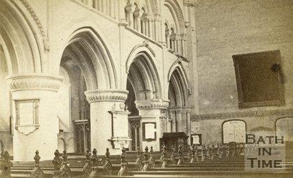 Interior of Malmesbury Abbey, Wiltshire c.1863