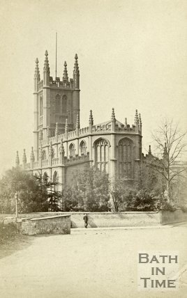 The rear of St. Mary's Church, Bathwick, Bath c.1866