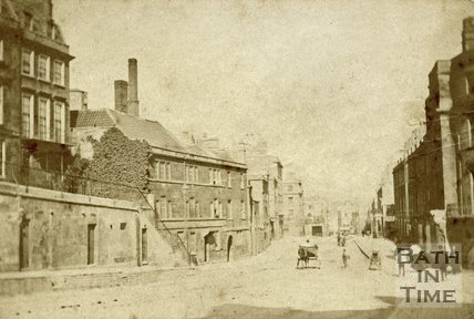 The junction of London Road and Cleveland Place, Bath, c.1868