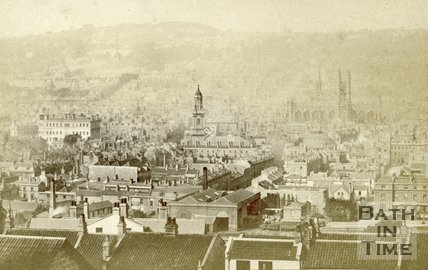 Bath from Beechen Cliff c.1868