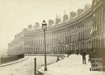 Camden Crescent, Bath c.1868