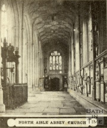 The north aisle, Bath Abbey, Bath c.1868