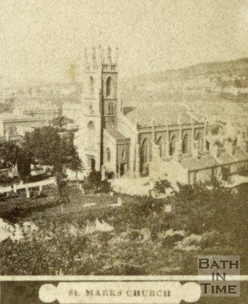 St. Mark's Church and burial ground, Bath c.1868