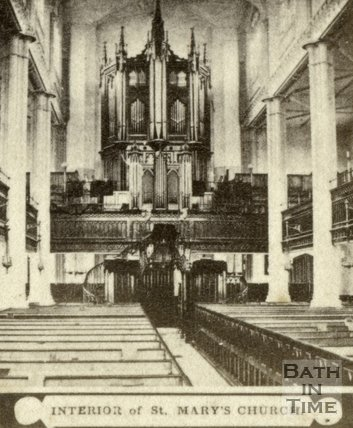 Interior, St. Mary's Church, Bathwick, Bath c.1868