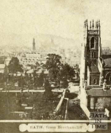 St. Mark's Church from Beechen Cliff, Bath c.1868