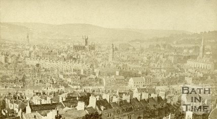 View of Bath from Beechen Cliff, c.1870