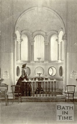 The interior of the Pump Room and water dispenser, Bath c.1860