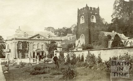 Widcombe Manor and gardens, Widcombe, Bath c.1870