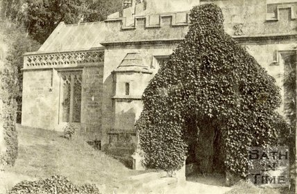 The entrance to Thomas à Becket Church, Widcombe, Bath c.1870
