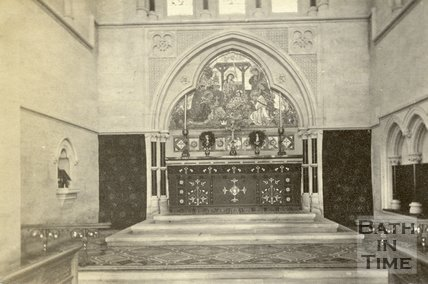 Interior of St. John's Church, Bathwick, Bath c.1880