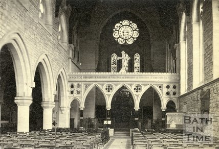 Interior of St. John's Church, Bathwick, Bath c.1880